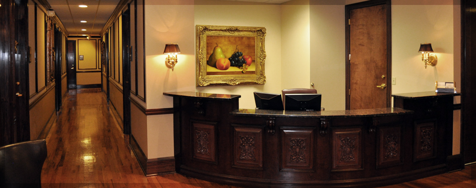 Stunning secretary and waiting area.